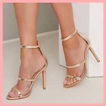 Chi Chi London Plain Pin Heels Party Style Heeled Sandals