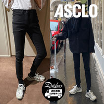 ASCLO Denim Street Style Plain Cotton Skinny Fit Jeans & Denim