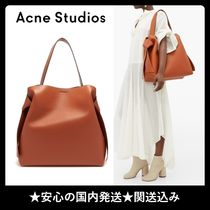Acne A4 Plain Party Style Office Style Elegant Style Totes
