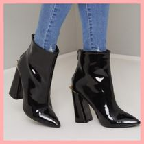 Chi Chi London Casual Style Plain Chunky Heels Ankle & Booties Boots