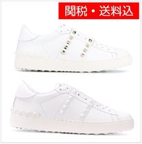 VALENTINO Studded Leather Low-Top Sneakers