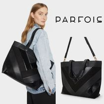PARFOIS Casual Style A4 2WAY Elegant Style Totes
