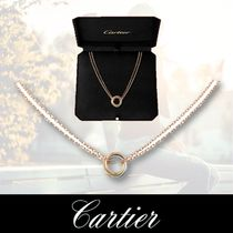 Cartier TRINITY Casual Style Chain Party Style 18K Gold Office Style