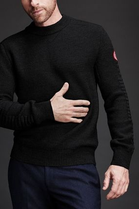 Crew Neck Wool Collaboration Long Sleeves Plain