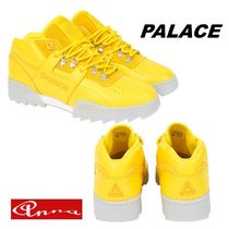Palace Skateboards Blended Fabrics Street Style Plain Leather Sneakers