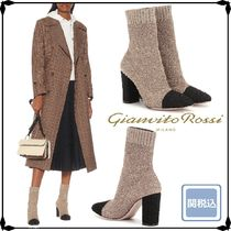 Gianvito Rossi Casual Style Bi-color Block Heels Ankle & Booties Boots