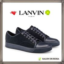 LANVIN Unisex Street Style Plain Leather Sneakers