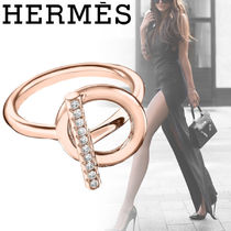 HERMES Party Style Elegant Style Formal Style  Rings