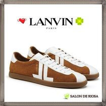 LANVIN Street Style Bi-color Leather Sneakers