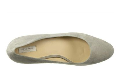 Cole Haan Round Toe Casual Style Suede Plain Pin Heels Party Style