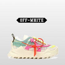 Off-White Casual Style Suede Street Style Leather Low-Top Sneakers
