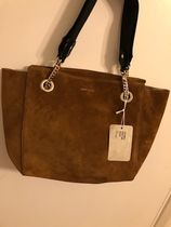 Jimmy Choo Casual Style Suede A4 2WAY Plain Leather Office Style