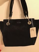 Jimmy Choo Casual Style Suede A4 2WAY Plain Office Style Totes