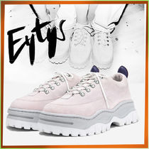Eytys Unisex Street Style Plain Leather Low-Top Sneakers