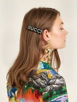GUCCI Barettes Casual Style Street Style With Jewels Clips