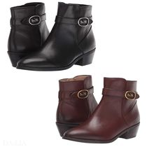 Coach Round Toe Casual Style Street Style Plain Leather