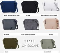 State of Escape Casual Style Street Style 2WAY Plain Handmade Shoulder Bags