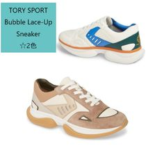 TORY SPORT Platform Round Toe Rubber Sole Lace-up Casual Style