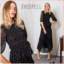 GHOSPELL Flower Patterns Casual Style Shirts & Blouses