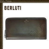 Berluti Leather Long Wallet  Logo Long Wallets