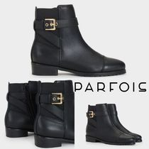 PARFOIS Rubber Sole Casual Style Block Heels Ankle & Booties Boots