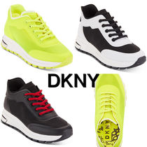 DKNY Platform Round Toe Lace-up Casual Style Low-Top Sneakers