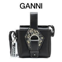 Ganni 2WAY Leather Shoulder Bags