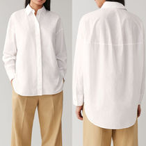COS Casual Style Long Sleeves Plain Cotton Medium Office Style