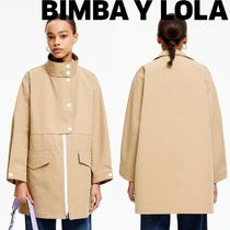 bimba & lola Casual Style Plain Medium Trench Coats