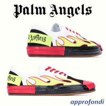 Palm Angels Tweed Blended Fabrics Street Style Sneakers