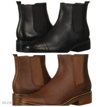 Cole Haan Round Toe Casual Style Street Style Plain Leather