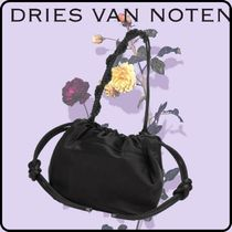 Dries Van Noten Blended Fabrics Plain Shoulder Bags
