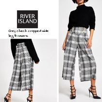River Island Printed Pants Short Gingham Glen Patterns
