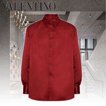 VALENTINO Long Sleeves Plain Oversized Shirts