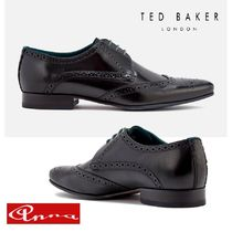 TED BAKER Wing Tip Moccasin Plain Leather Loafers & Slip-ons