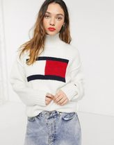 Tommy Hilfiger Long Sleeves Plain Oversized Turtlenecks