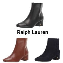 Ralph Lauren Casual Style Suede Plain Leather Office Style Elegant Style