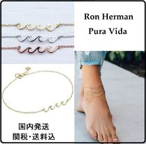 Ron Herman Casual Style Unisex Street Style Handmade Silver Anklets