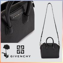 GIVENCHY ANTIGONA Casual Style 2WAY Chain Plain Leather Party Style