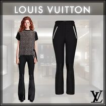 Louis Vuitton Casual Style Wool Nylon Plain Leather Long Party Style