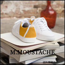 M. MOUSTACHE Casual Style Suede Street Style Plain Leather Office Style