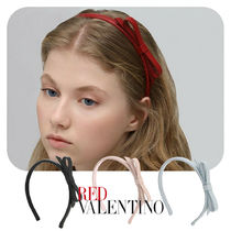 RED VALENTINO Casual Style Leather Party Style Office Style Elegant Style