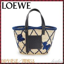 LOEWE Blended Fabrics Plain Other Animal Patterns Leather
