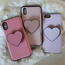 Heart Plain Silicon Handmade Smart Phone Cases