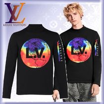 Louis Vuitton Crew Neck Unisex Nylon Street Style Long Sleeves