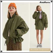 ANOTHER A Short Street Style MA-1 Bomber Jackets
