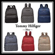 Tommy Hilfiger Monogram Casual Style Faux Fur Backpacks