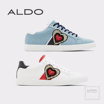 ALDO Heart Faux Fur Bi-color Plain Oversized Sneakers