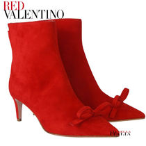 RED VALENTINO Suede Plain Pin Heels Party Style Elegant Style