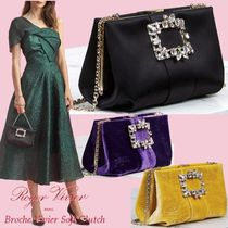 Roger Vivier Casual Style Blended Fabrics 3WAY Chain Plain Party Style